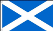 3ft x 2ft Light Blue Scottish Saltire St Andrew Scotland National Flag 100D